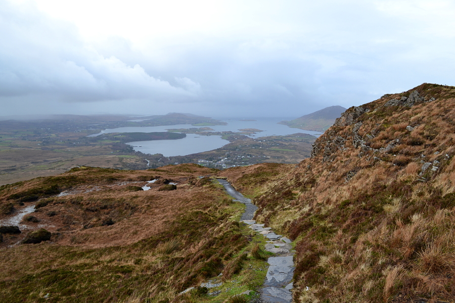 Diamond Hill, Connemara, Irlande, point de vue, paysage