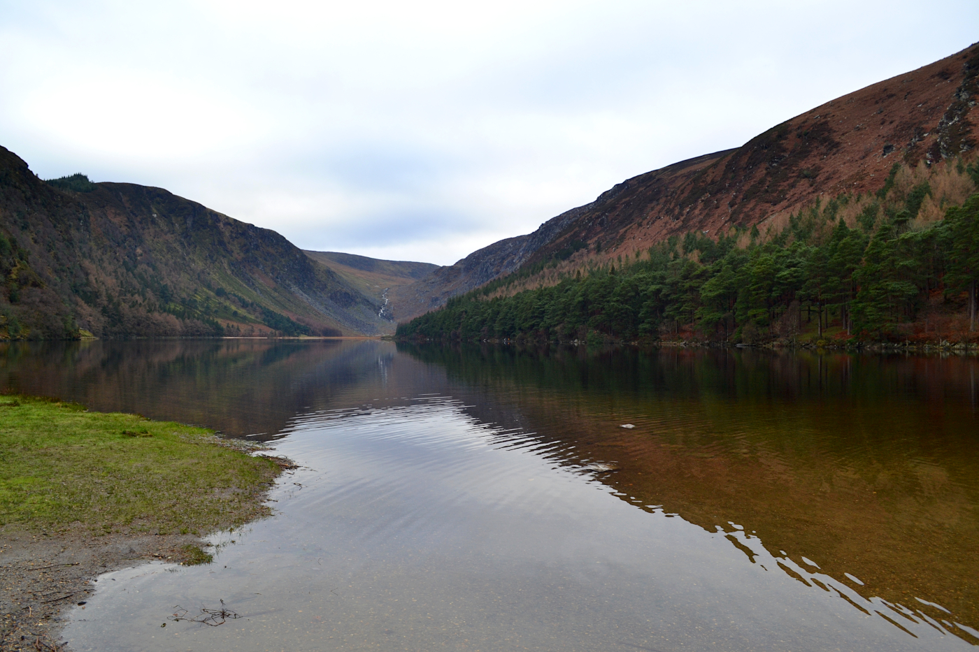Upperlake de Glendalough, randonnée au parc national de Wicklow