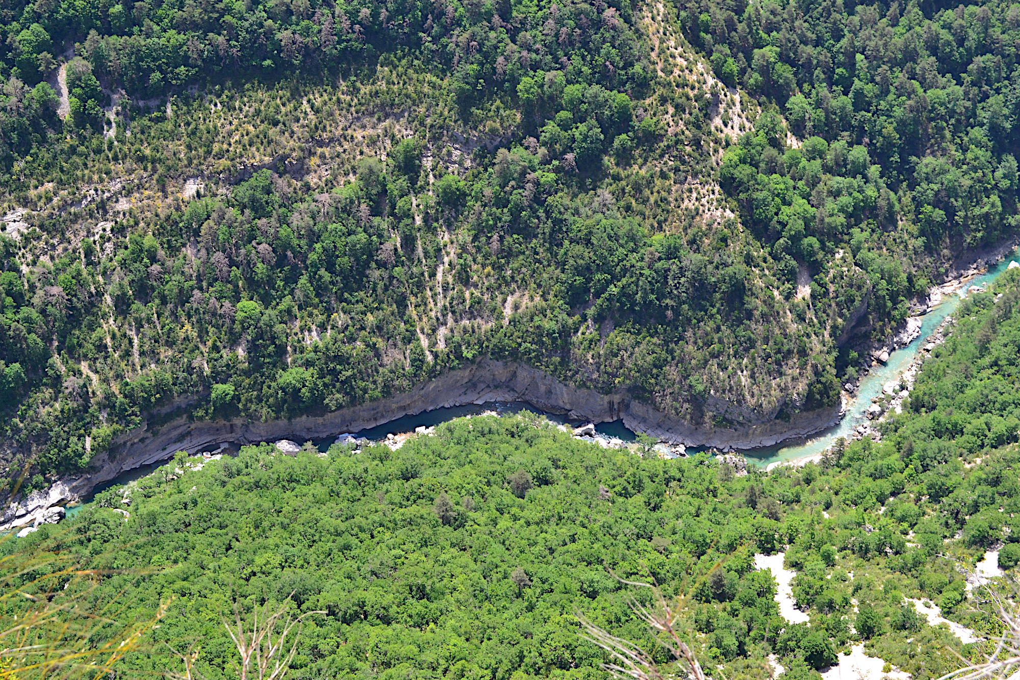aerialview on Verdon canyon